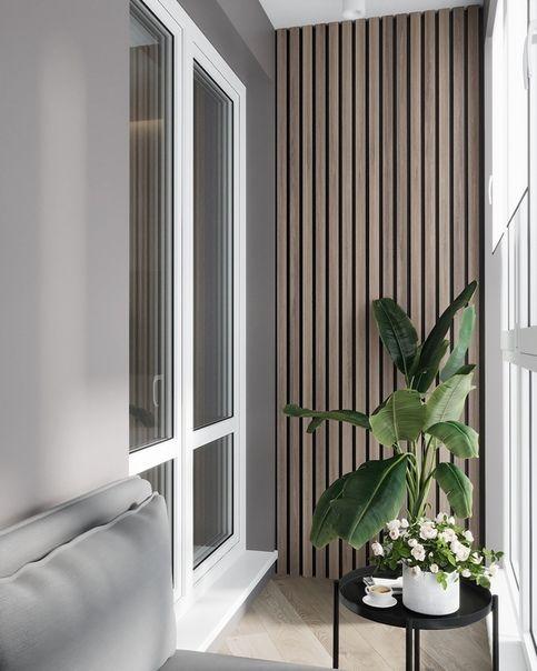 балконная перегородка из дерева