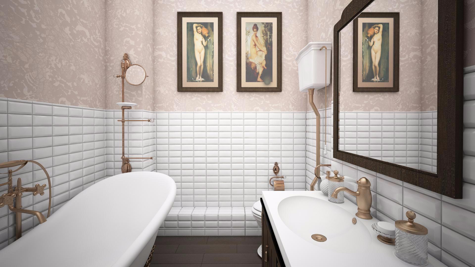 влагостойкие обои в ванной