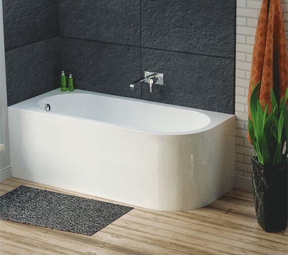 матовые акриловые панели в ванной