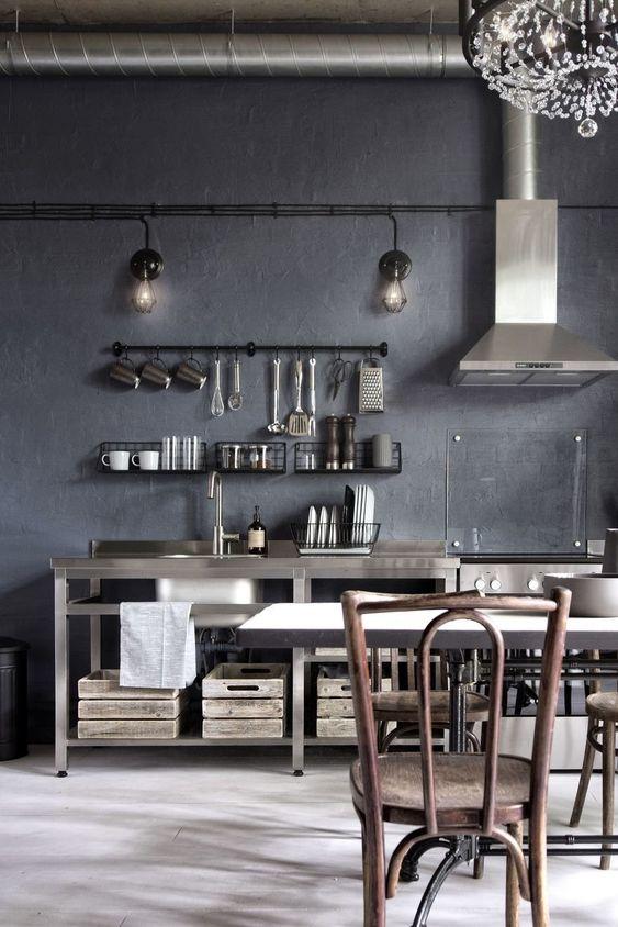 Бетонная стена (кухня)