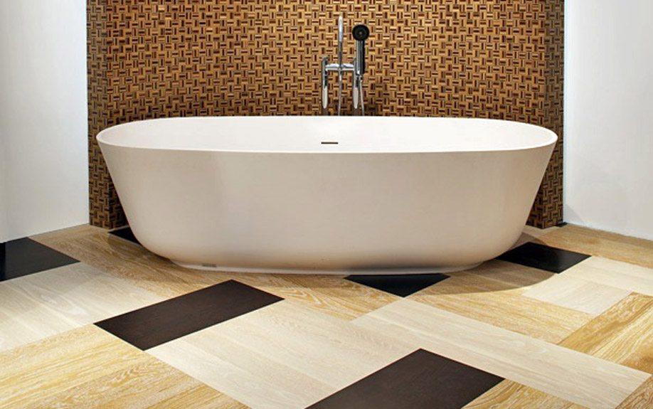 пол в ванной из пвх