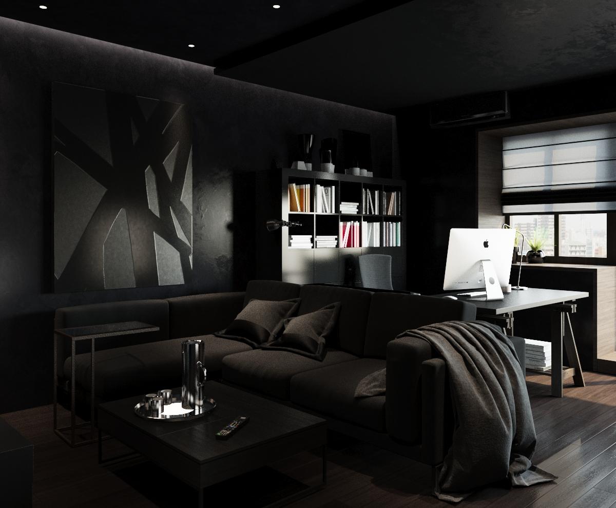 черная краска в квартире