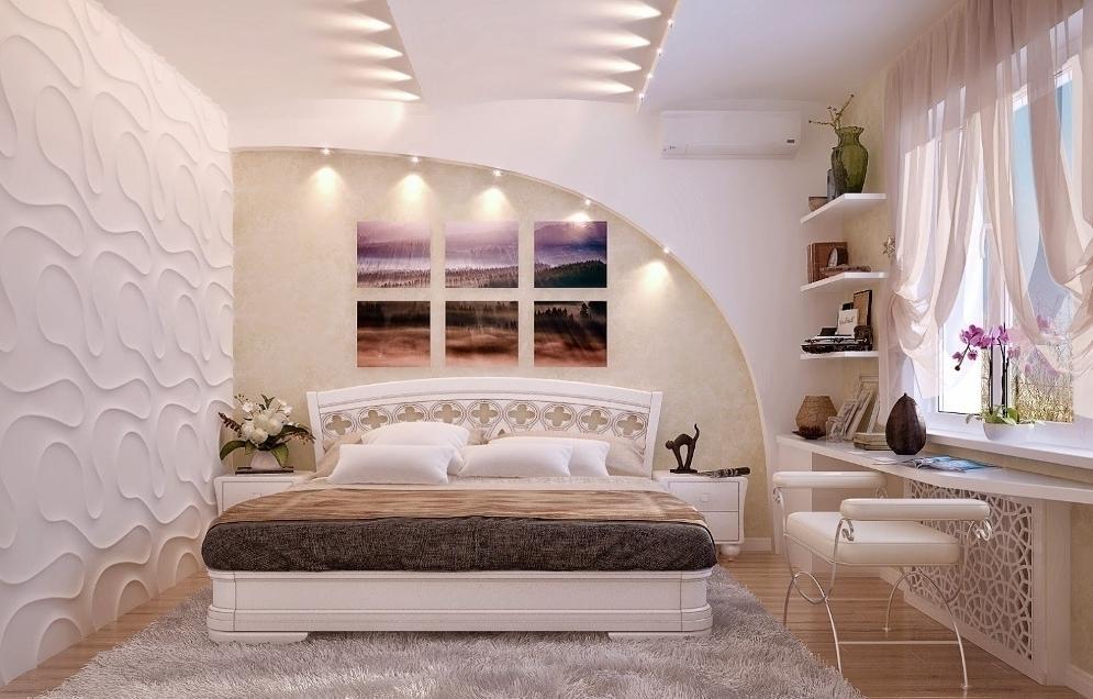 гипсокартон в спальне