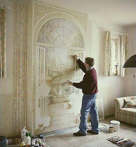 самостоятельное нанесение фрески