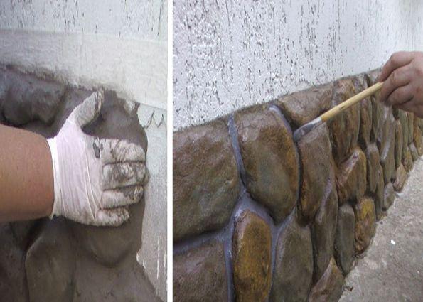 декоративная штукатурка под камень