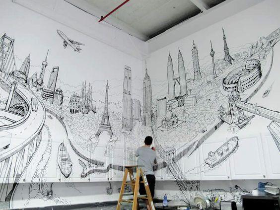 изготовление фрески