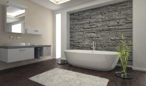 использование эластичной штукатурки в ванной