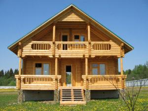 современный дом из бруса