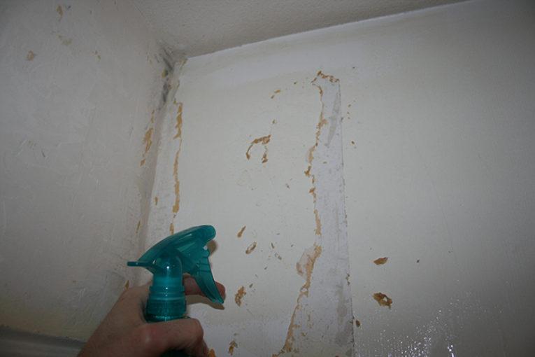 снятие старой краски в ванной