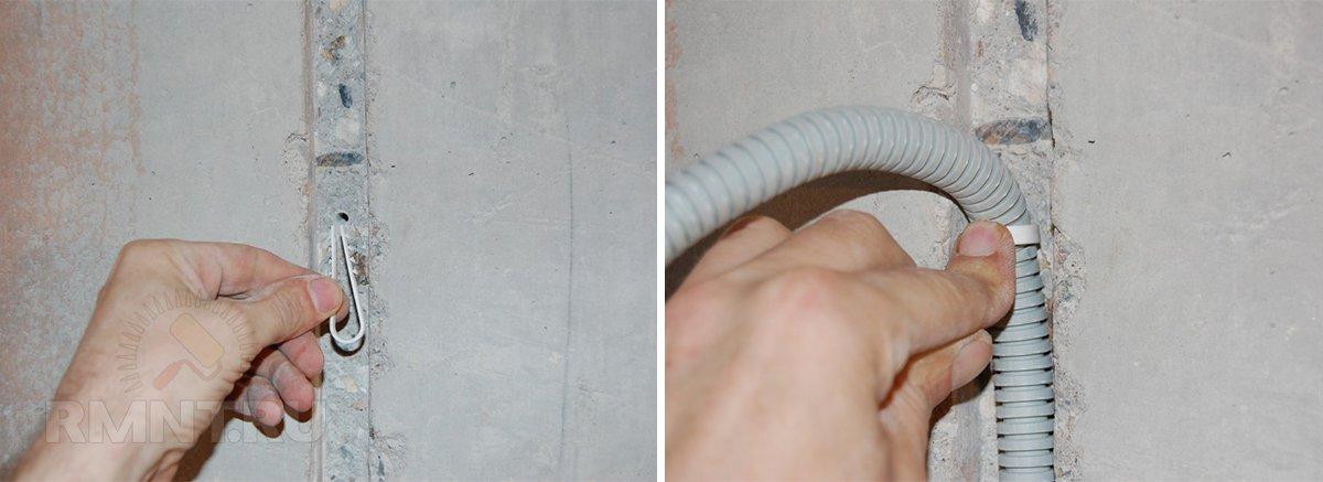 крепление кабель канала
