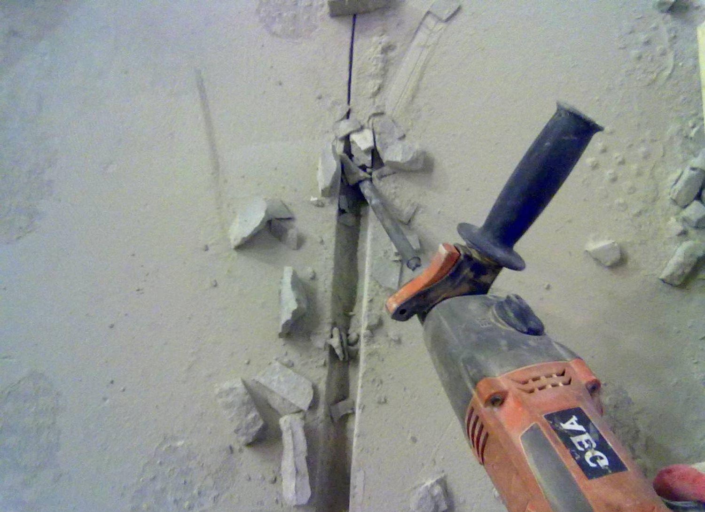 как штробить стены