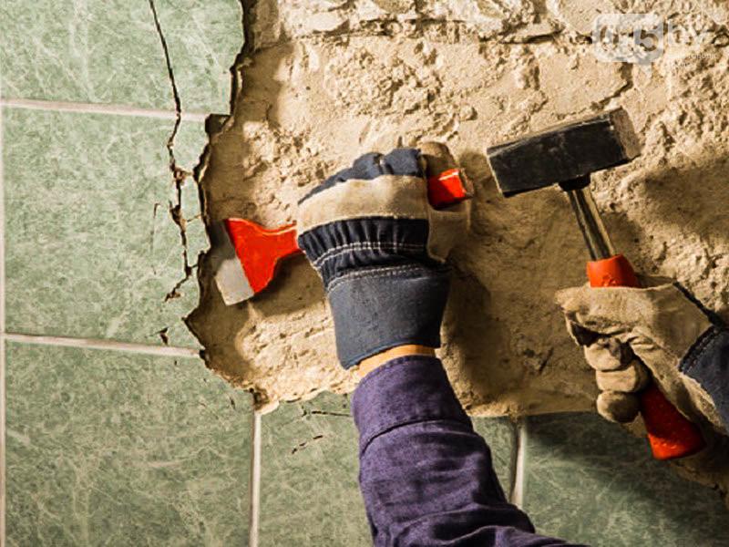 как снять плитку со стен