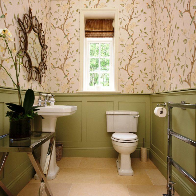 выбор обоев для туалета