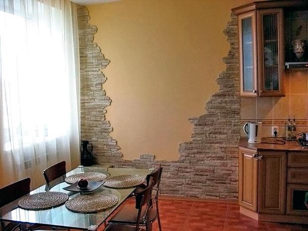 ремонт кухни своими руками отделка стен