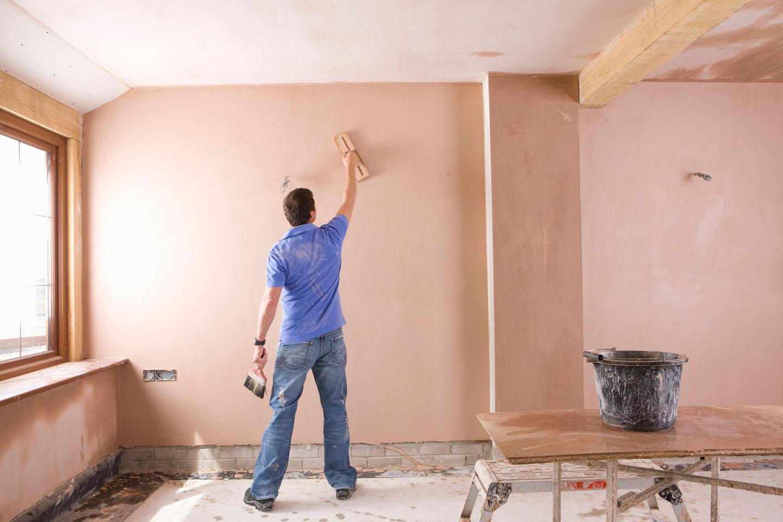 ремонт стен и потолка в кухне