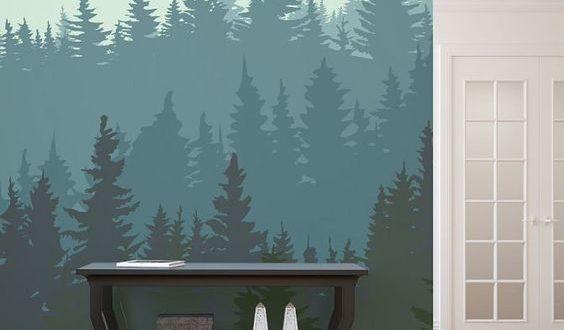 роспись стены матовой акриловой краской