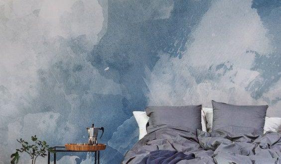 рисунок акриловой шпаклевкой в спальне