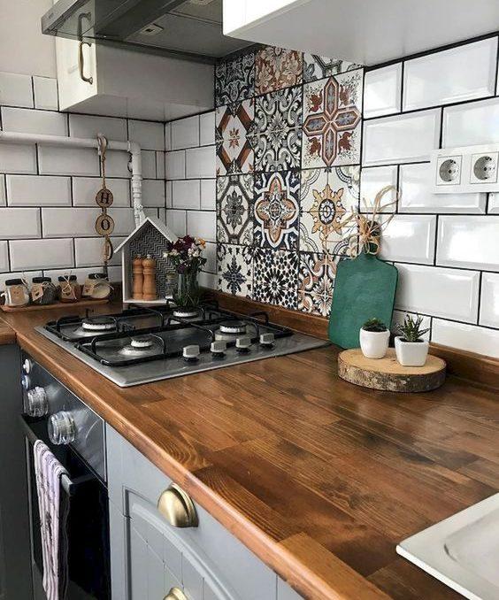 как класть плитку в кухне