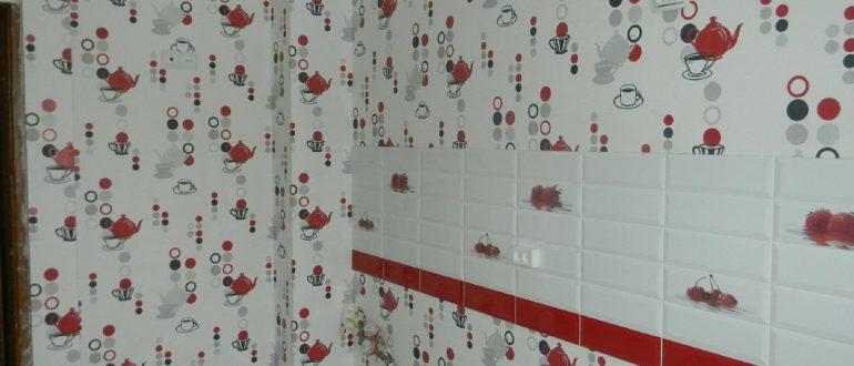 клеенка на стену в кухне
