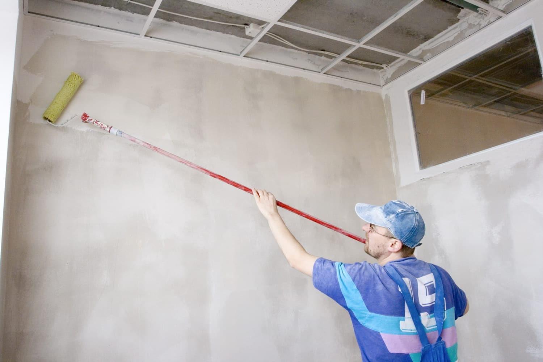 подготовка стен под жидкие обои