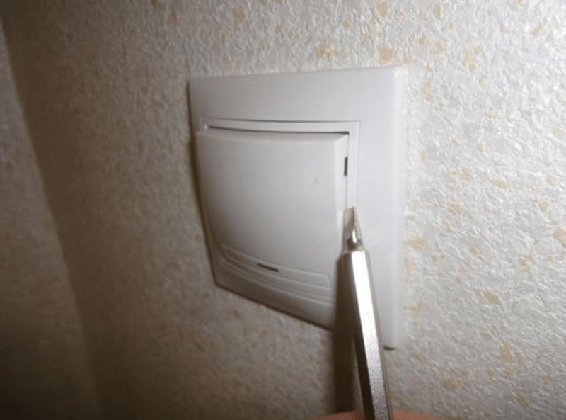 демонтаж выключателей